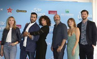 Audrey Lamy, Jonathan Cohen, Anne Depetrini, Cedric Klapisch , Ana Girardot et Monsieur Poulpe, les parrains de la Fête du cinéma.