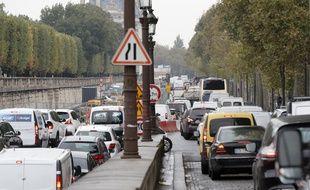Un embouteillage à Paris (photo d'illustration)