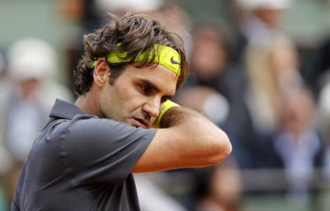 Le Suisse Roger Federer, lors de sa défaite en demi-finale de Roland-Garros, le 8 juin 2012.