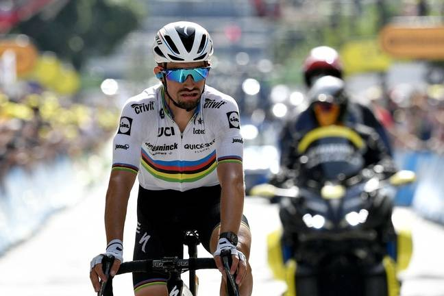 Julian Alaphilippe, one of the most famous cyclists living in Andorra.