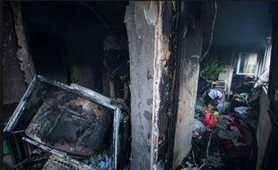 Un appartement de la rue Brançion (15e arrondissement) a explosé puis pris feu, le 25 août 2017 à Paris.