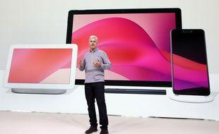 Rick Osterloh, vice-président de Google en charge du hardware et des services, le 9 octobre 2018.