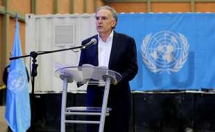 Le diplomate Jean Arnault, alors envoyé spécial de l'ONU pour la Colombie, le 22 septembre 2017.