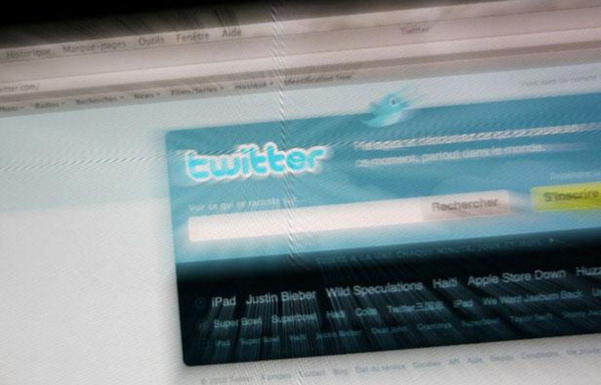 Illustration: Page d'accueil du réseau social Twitter. – LOIC VENANCE / AFP