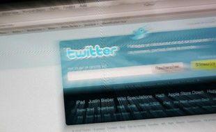 Illustration: Page d'accueil du réseau social Twitter.