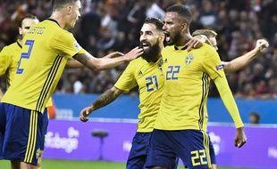 Jimmy Durmaz avec la sélection suédoise contre la Turquie en Ligue des nations à Solna, le 10 septembre 2018.