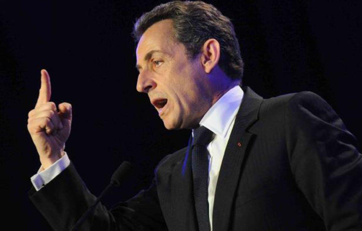Nicolas Sarkozy lors d'un meeting aux Sables d'Olonne (Vendée), le 4 mai 2012. – FABRICE ELSNER / 20MINUTES