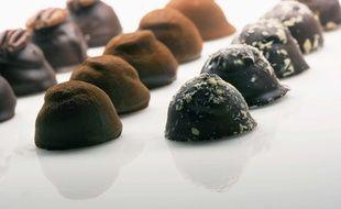 Bonbons au chocolat. Illustration.