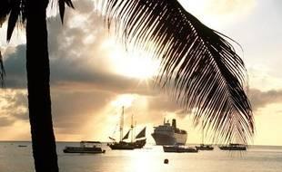 Les îles Caïmans aux Antilles.
