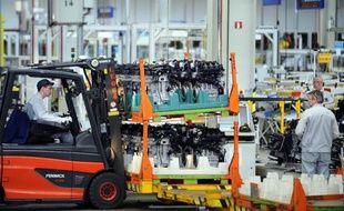 Une usine de fabrication Peugeot Citroën le 27 mars 2015 à Tremery