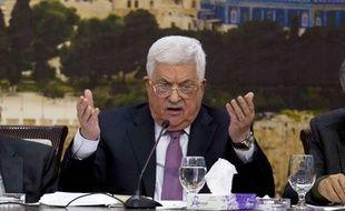 Le président palestinien Mahmoud Abbas à Ramallah, le 14 janvier 2018.