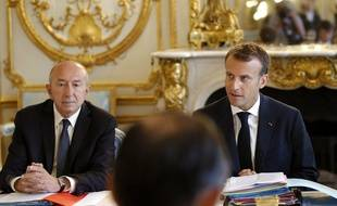Emmanuel Macron et Gérard Collomb, le 3 août 2018.