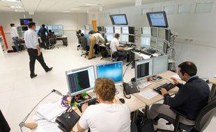 LA CHAPELLE SUR ERDRE, le 02/10/2012 Une salle de la societe de prestations informatiques GFI / illustration