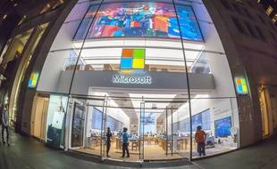 Un magasin Microsoft à New York en 2017.