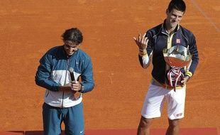 Rafael Nadal, battu par Novak Djokovic, le 21 avril 2013 à Monte-Carlo.