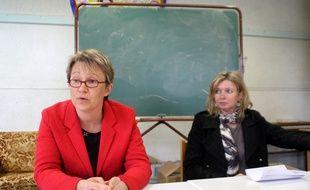 Nathalie Appéré, ici aux côtés de son adjointe à l'éducation Lénaïg Briero.