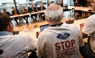 Bruno Le Maire a rencontré les représentants des salariés de Ford lundi à Bordeaux. Credit:UGO AMEZ/SIPA/1810151912