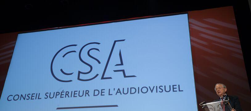 Olivier Schrameck, President du CSA (Conseil superieur de l'audiovisuel) pendant le festival Serie series a Fontainebleau.