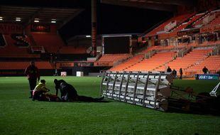 La chute d'une rampe de luminothérapie a tué un jardinier du FC Lorient, le 20 décembre 2020 au Moustoir.