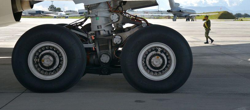 Le train d'atterrissage d'un Airbus. Illustration.