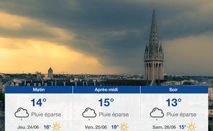 Météo Caen: Prévisions du mercredi 23 juin 2021