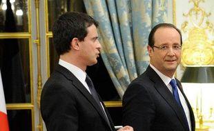 François Hollande et Manuel Valls le 8 janvier 2013 à Paris.