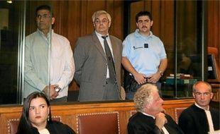 Jean-Michel Bissonnet (au c.) a nié avoir «tué la femme de sa vie».