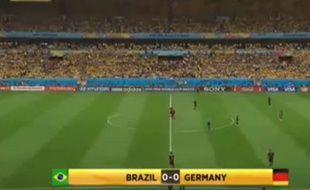 Un internaute a effacé les Brésiliens du résumé de la rencontre entre la Seleçao et l'Allemagne.