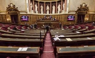 L'hémicycle du Sénat, au palais du Luxembourg, à Paris.