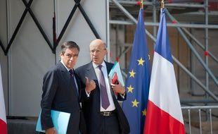 François Fillon et Alain Juppé le 10 août 2011, à l'Elysée.