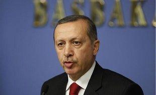 Le Premier ministre turc Recep Tayyip Erdogan, le 22 décembre 2011 à Ankara.