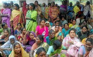 Une réunion des villageoises de Thervoy dans le Tamil Nadu (Inde).