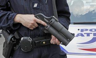 Un lanceur de balles utilisé par la police nationale. Photo d'illustration. AFP PHOTO / BERTRAND GUAY