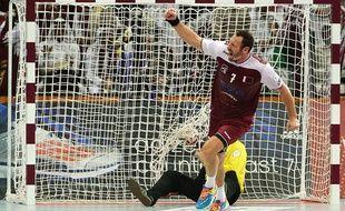 Le handballeur français Bertrand Roiné sous les couleurs de l'équipe nationale du Qatar.
