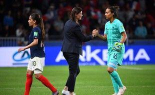 Diacre et Bouhaddi lors du Mondial 2019 en France.