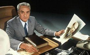 Arthur Conte présente l'émission «Le prophète et le tsar» sur TF1 en 1979.