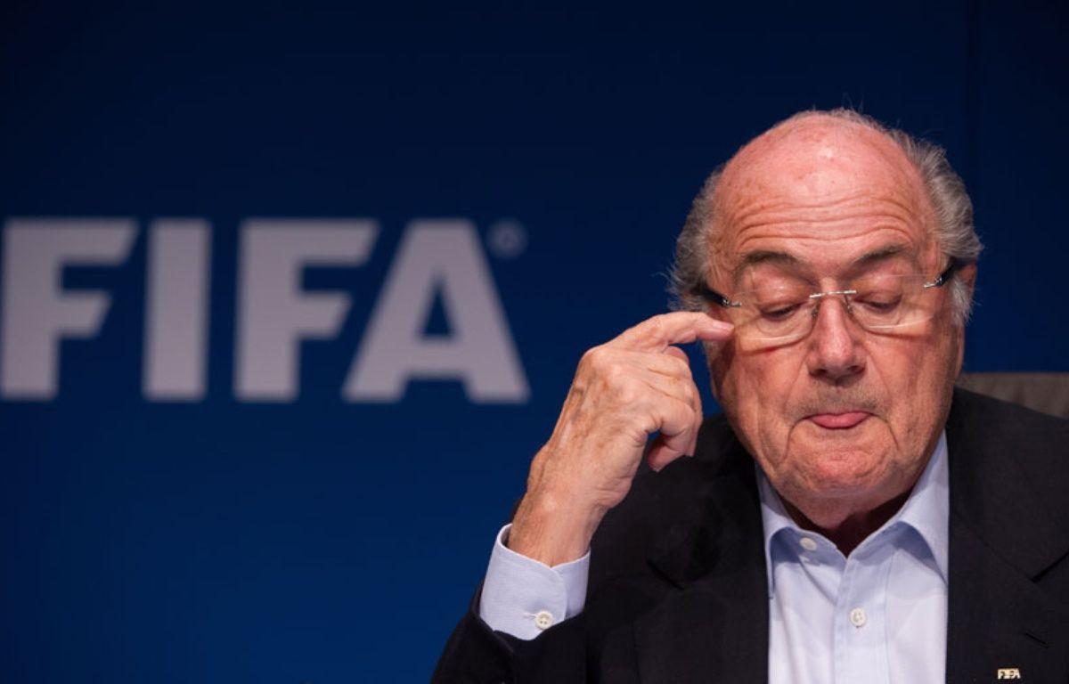 Sepp Blatter, le président de la FIFA, le 26 septembre 2014, à Zurich. – SEBASTIEN BOZON / AFP