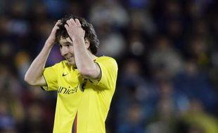 L'attaquant du FC Barcelone, Lionel Messi, face à Getafe, le 18 avril 2009.