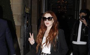 L'actrice Lindsay Lohan à Paris