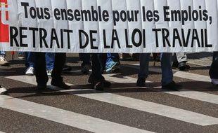 Une manifestation contre la loi Travail au printemps dernier à Strasbourg. Illustration