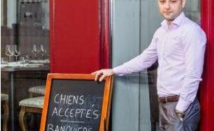 Alexandre Callet a décidé d'interdire l'accès de son restaurant aux banquiers.