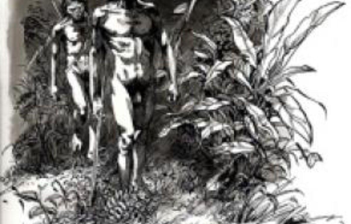 Illustration de La Préhistoire, d'Antoine Balzeau et Sophie Archambault de Beaune. –  OLIVIER-MARC NADEL