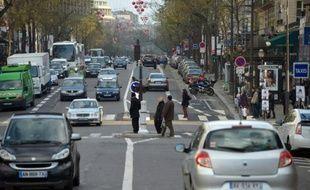 Circulation automobile le 8 décembre 2012 à Paris