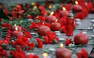 Une commémoration du 97e anniversaire du génocide arménien le 14 avril 2012 place Taksim, à Istanbul, en Turquie