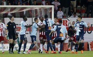 Le penalty inscrit par Mateta avait déclenché les échauffourées au mois de mai.
