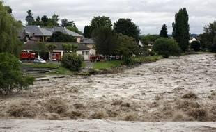 La commune de Nay dans le sud-ouest de la France a été particulièrement touchée par les inondations le mercredi 19 juin 2013.