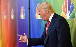 Donald Trump fait la promo de l'émission «The Apprentice», en décembre 2015.