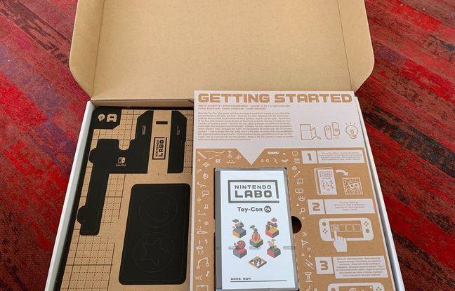 On ouvre la boite : un jeu et pas mal de morceaux de cartons qu'il faudra assembler.