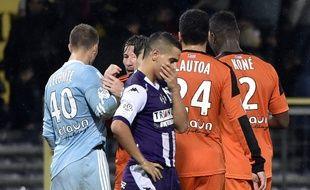 L'attaquant du TFC Wissam Ben Yedder lors de la défaite face à Lorient, au Stadium de Toulouse.