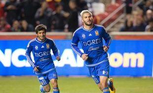 Gignac a encore marqué pour Tigres, cette fois en quart de finale retour de la Ligue des champions de la Concacaf face à Real Salt Lake le 2 mars 2016.
